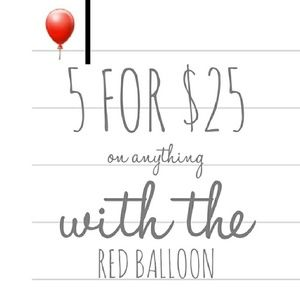Other - Red balloons means SALE